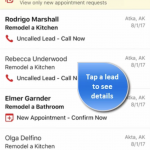 HomeAdvisor Pro App Lead Details Screen