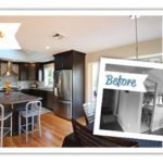 Kitchen remodel before and after photo